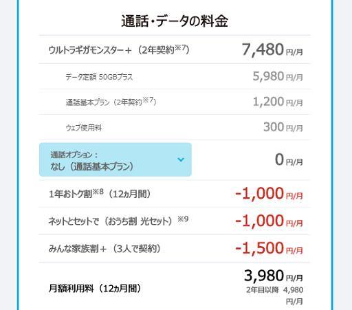 ソフトバンク料金プラン